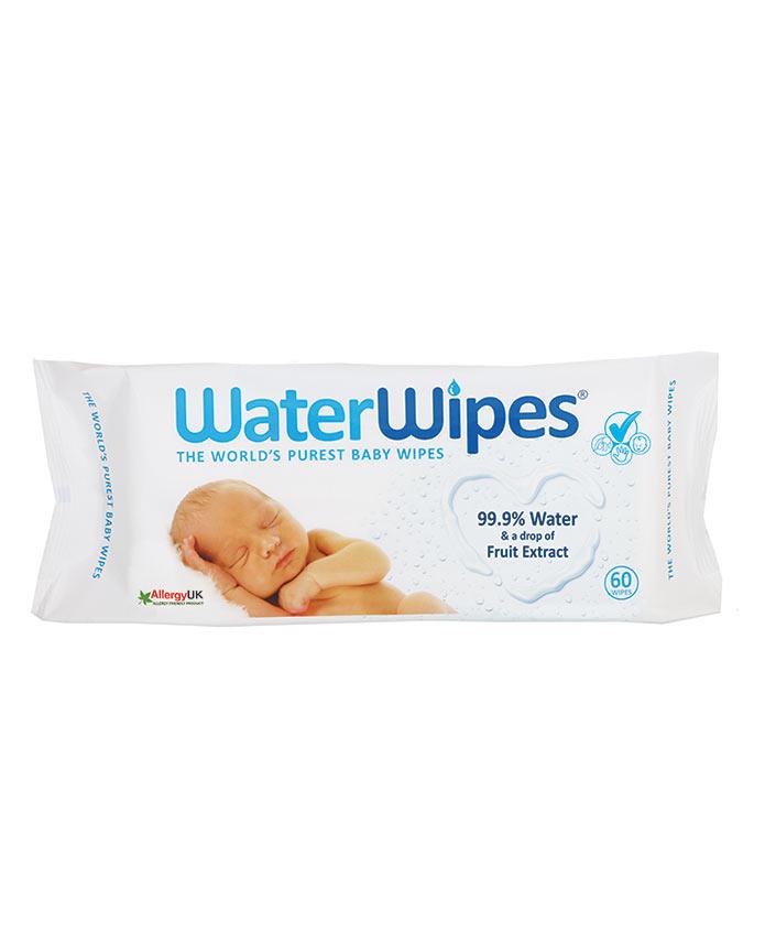 1 пакет Water Wipes Бебешки почистващи кърпички, 99.9% вода, 60 бр. 8.00лв.