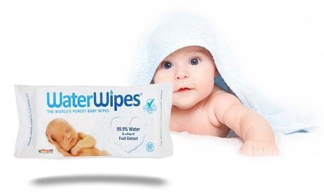 Бебешки почистващи кърпички Water Wipes